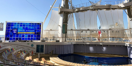 Aqua Theater an Bord der Symphony of the Seas