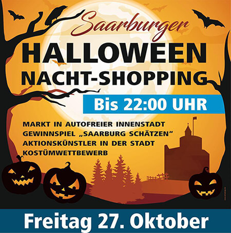 Halloween Nacht-Shopping Plakat 2017 Saarburg